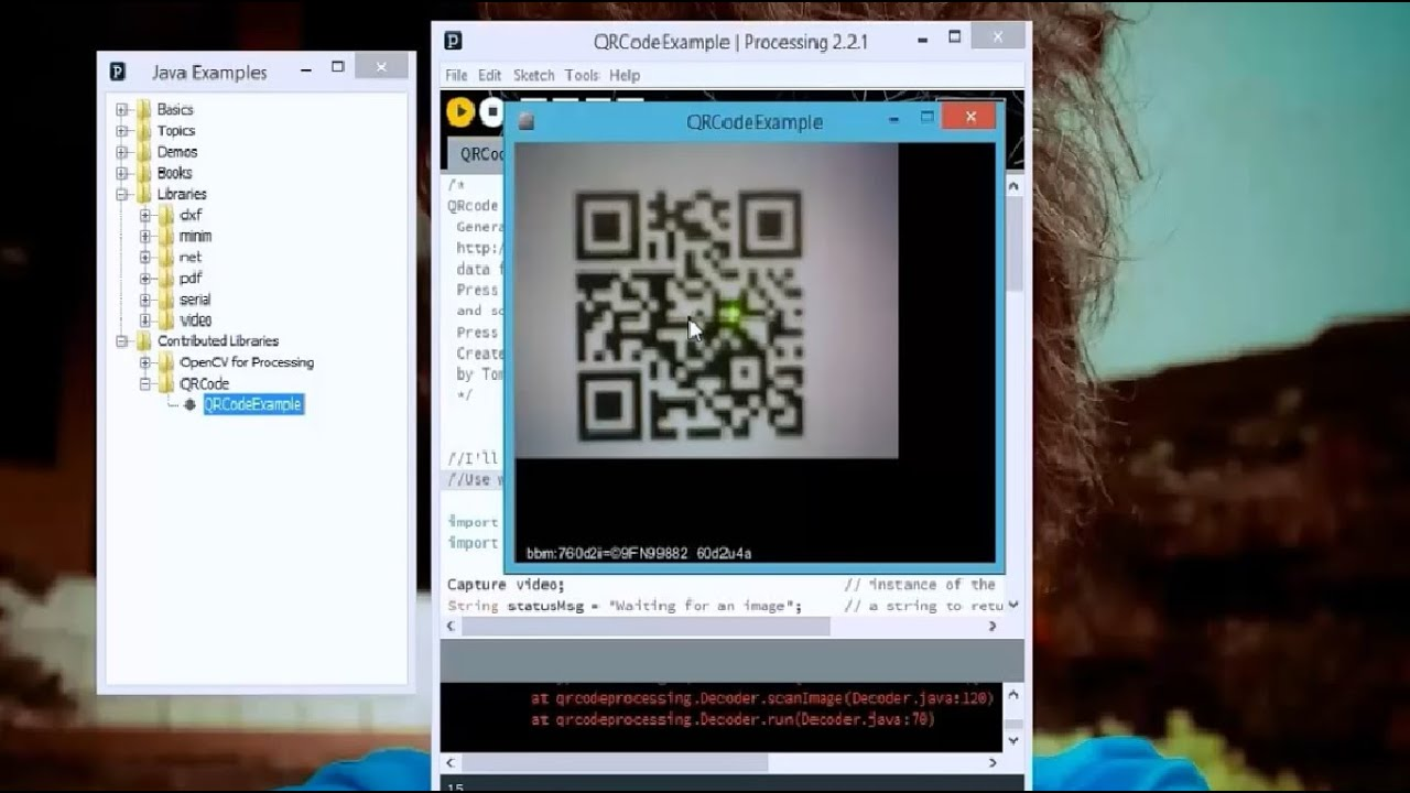 QR Code Scaning in Processing