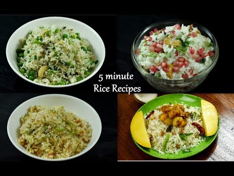 4 instant rice recipes - for lunch box  5 minute rice recipes  lunch box recipes and ideas