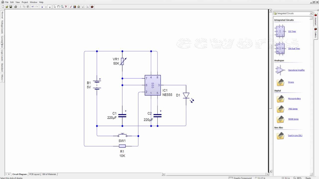 adjustable timer circuit using 555 [ 1280 x 720 Pixel ]