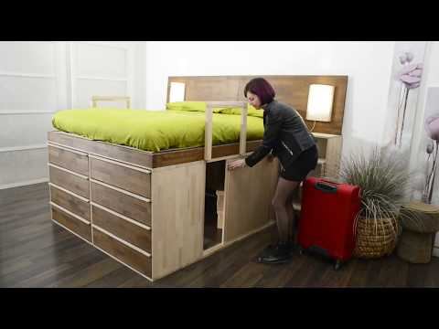 Innovative Space Saving Bed - Small Apartment Ideas