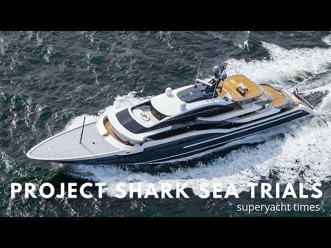 Oceanco SUPERYACHT SHARK Y717 Sea Trials North Sea