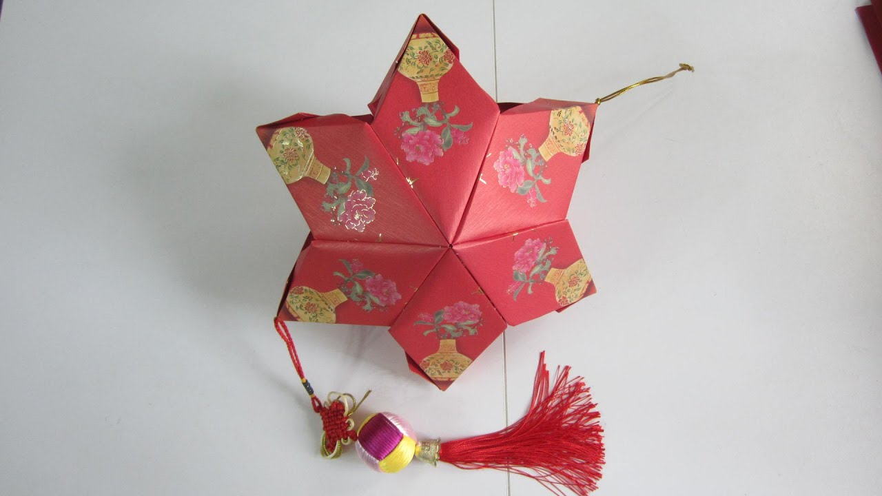 Cny tutorial no 21 12 unit red packet hongbao star for Ang pow koi fish tutorial