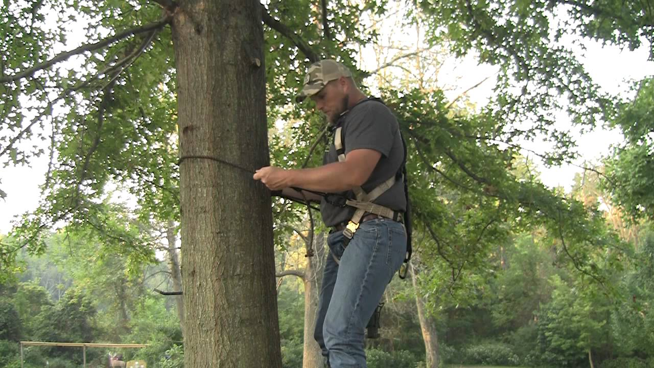 Lineman S Belt For Hanging Treestands Youtube