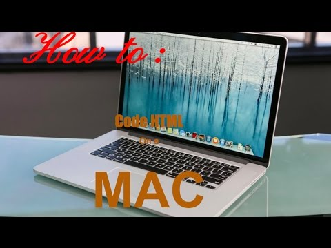 How To Code HTML On Mac