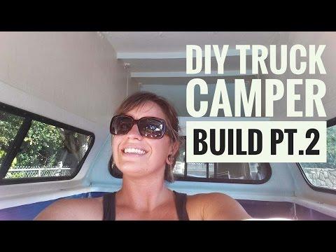 DIY Truck Camper Build Pt.2 (Travel Vlog) Ep.5