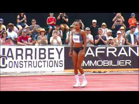 Nafissatou Thiam 2.02m World Best in Heptathlon in High Jump at Decastar 2019