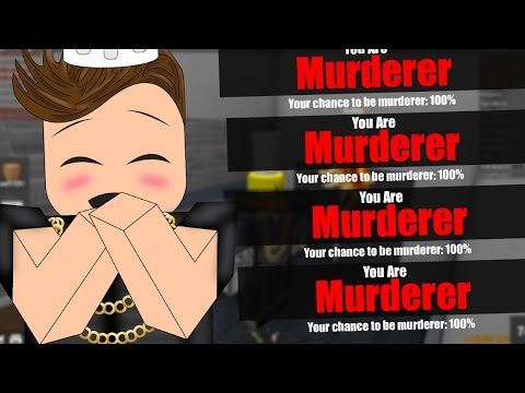 100% CHANCE TO BE MURDERER (Roblox Murder Mystery 2)