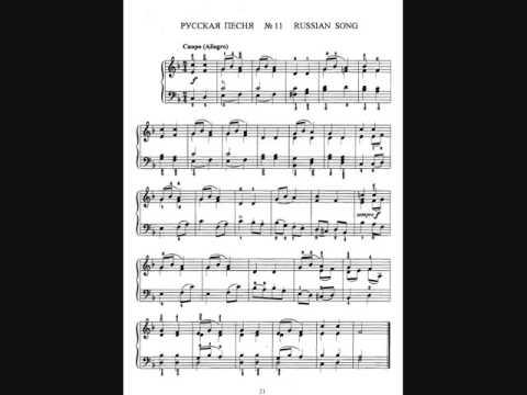 Чайковский П. И.  Детский альбом, № 22, Песня жаворонка -  исп. Я. Флиэр