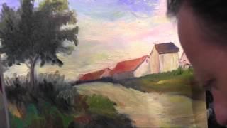 И Сахаров Пейзаж  Импрессионизм .Урок живописи