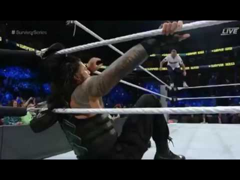 roman reigns spears shane mcmahon at survivor series 2016 youtube