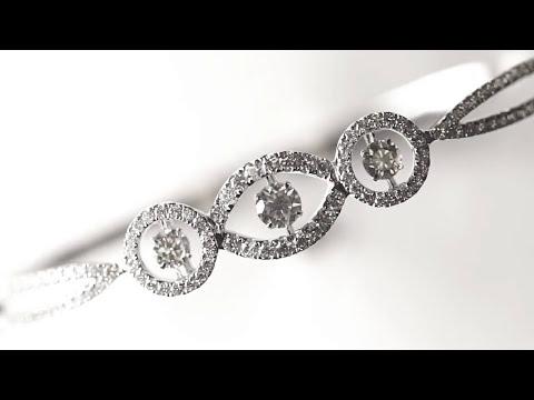 Dancing Diamond Bracelet And Earrings