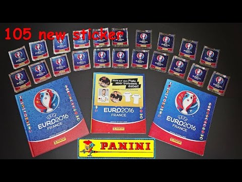 PANINI 105 Sticker UEFA CUP FRANCE EURO 2016 PANINI Frankreich OFFICIAL Lucky Bag ALBUM EM