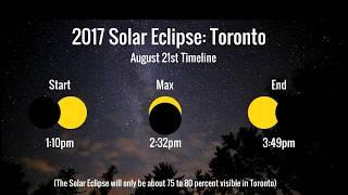 Solar Eclipse August 21 2017 Toronto