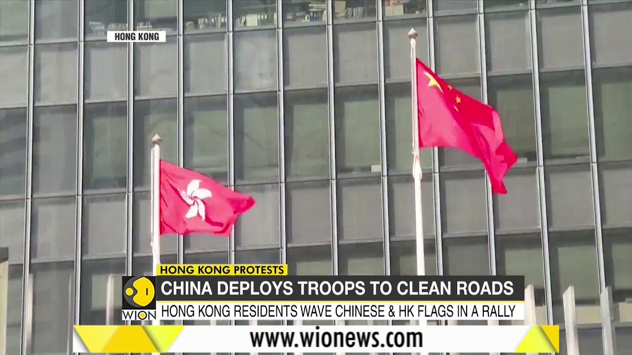 China army in Hong Kong for first time since protests began