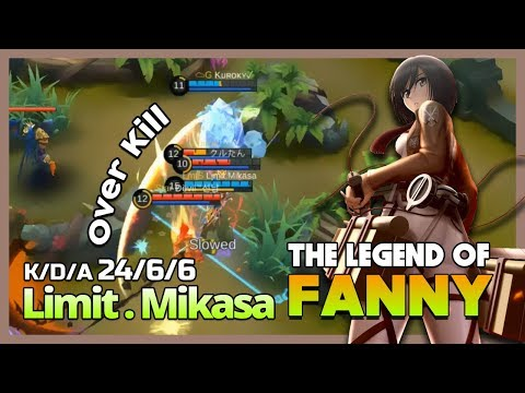 Evil Mode Control Limit.Mikasa Legend of Fanny 'Attack or Die' ~ Mobile Legends
