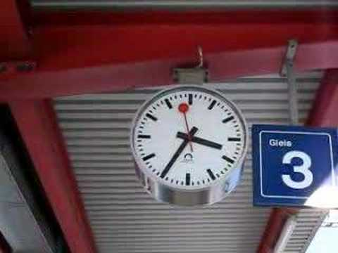Swiss railway clock youtube - Swiss railway wall clock ...