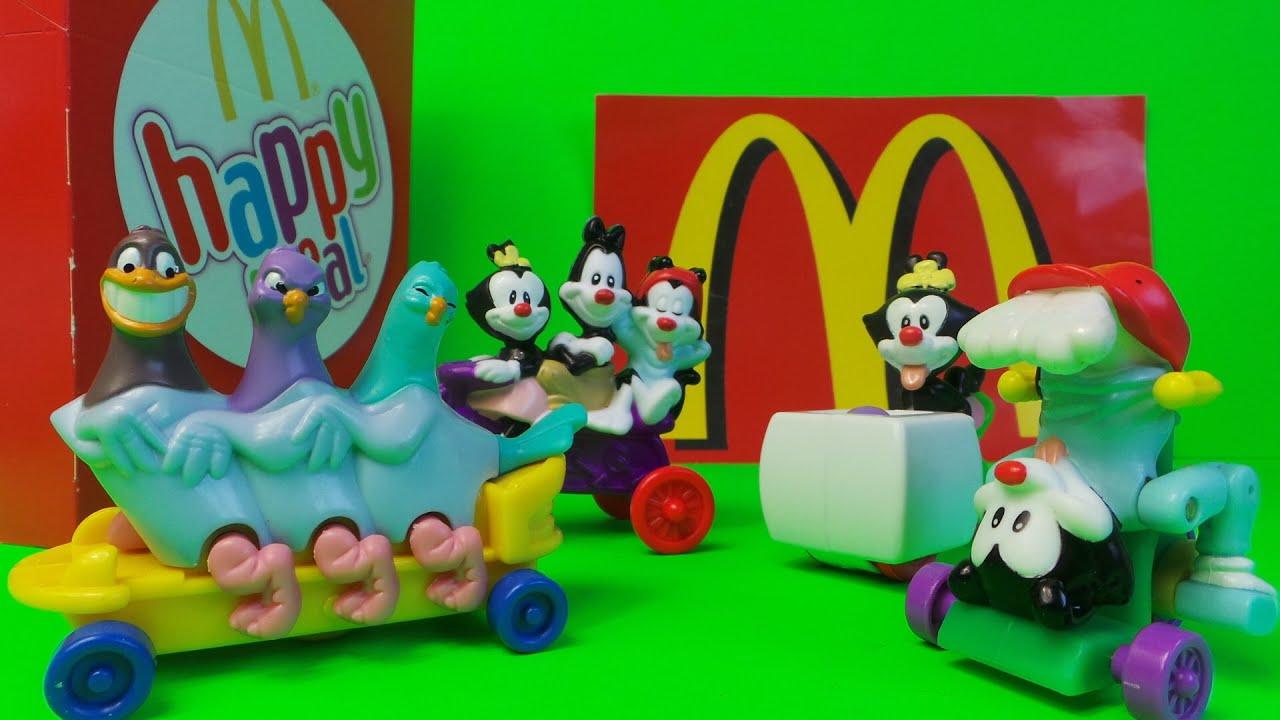 1995 mcdonalds kids happy meal animaniacs full toy set