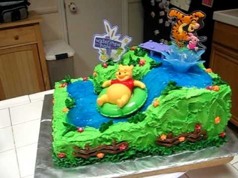 Winnie The Pooh Cake Watering Hole Baby First Birthday