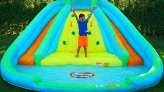 Play with Inflatable Toys and Slide