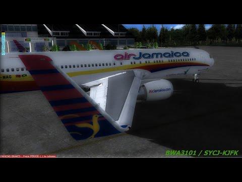 [VATSIM] BWA3101 / Guyana SYCJ Departure / KJFK ARRIVAL.  Level D B767,  FS2004