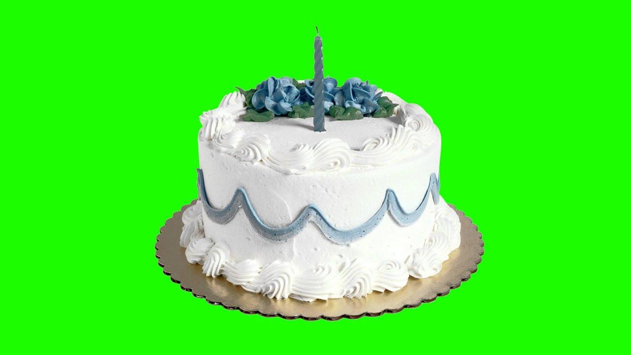 Cake In Green Screen Free Stock Footage Youtube