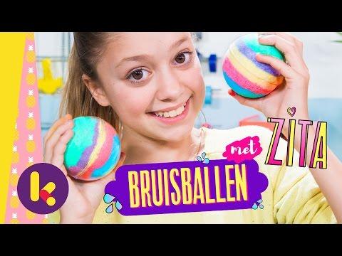 Regenboog-bruisballen maken met Zita