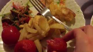 ASMR eating - Fried potatoes with steamed vegetables / АСМР - Жареная картошка с овощами