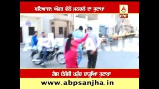 Patiala: Woman beats a man for his vulgar words