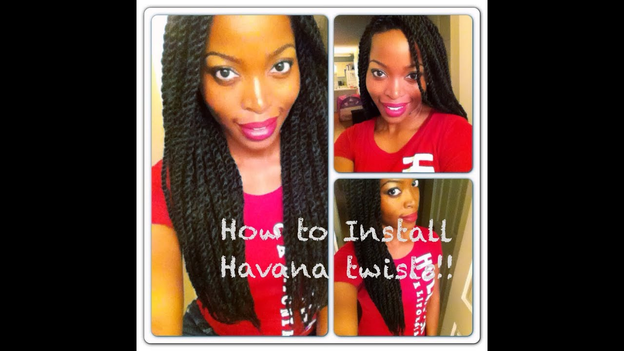 Havana / Marley Twists Tutorial: Invisible Root Method ...