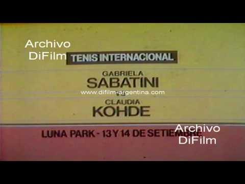 Promo Gabriela Sabatini vs Claudia Kohde en el Luna Park 1985