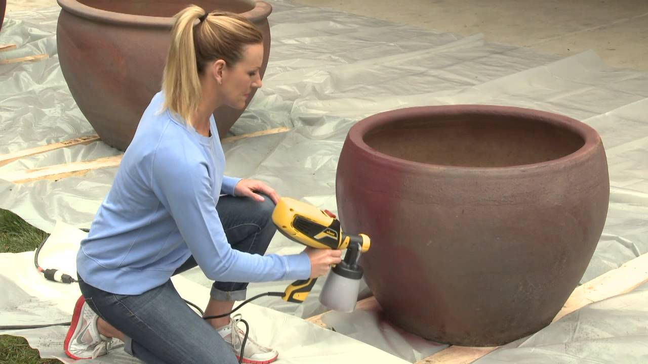 Painting Patio Planters   YouTube