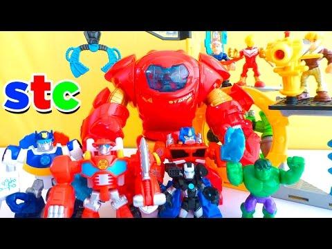 Transformers Rescue Bots vs Hulk de Los Vengadores