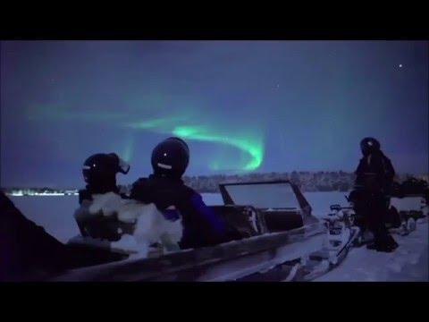 Northern Lights Snowmobile Safari