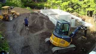 Site Work Back Fill - 10 - My Garage Build Hd Time Lapse