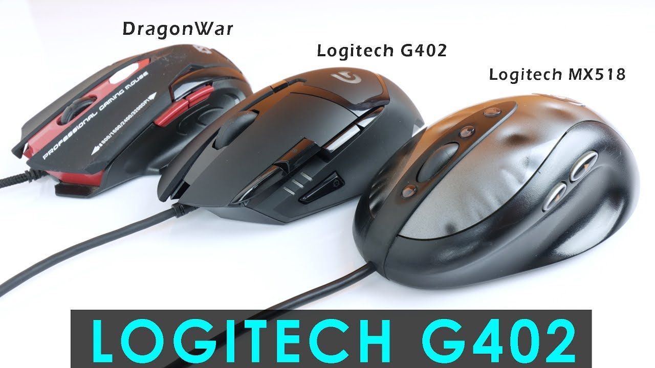 My New Logitech G402 Hyperion Fury Gaming Mouse Unboxing & First Look
