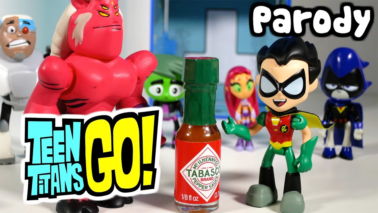 Teen Titans Go Robin Drinks Hot Sauce And Becomes Evil At -7994