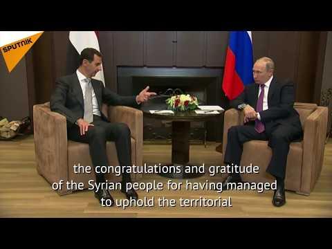Russian President Vladimir Putin Meets Syrian President Bashar Assad