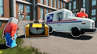 LEGO MAILMAN BLOW UP A MAFIA MANSION! - Brick Rigs Roleplay Gameplay - Lego City Job Simulator