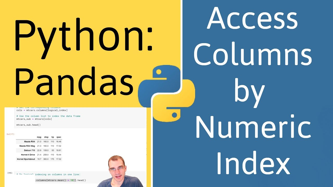 How to Access Columns by Numeric Index in Pandas (Python)