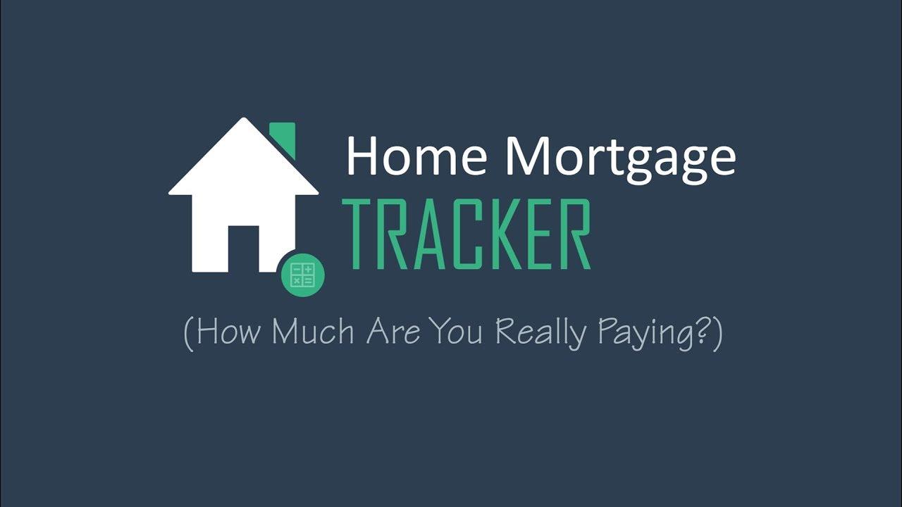 Home Mortgage Tracker Excel Spreadsheet Thespreadsheetguru