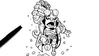 Comment dessiner Hellboy (Chibi)
