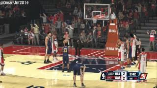 Playstation 4 NBA 2K14 HD Gameplay - Washington Wizards vs. Utah Jazz