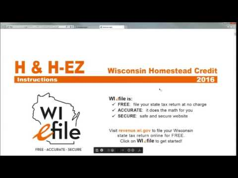 8 Wisconsin Returns & Homestead Credit