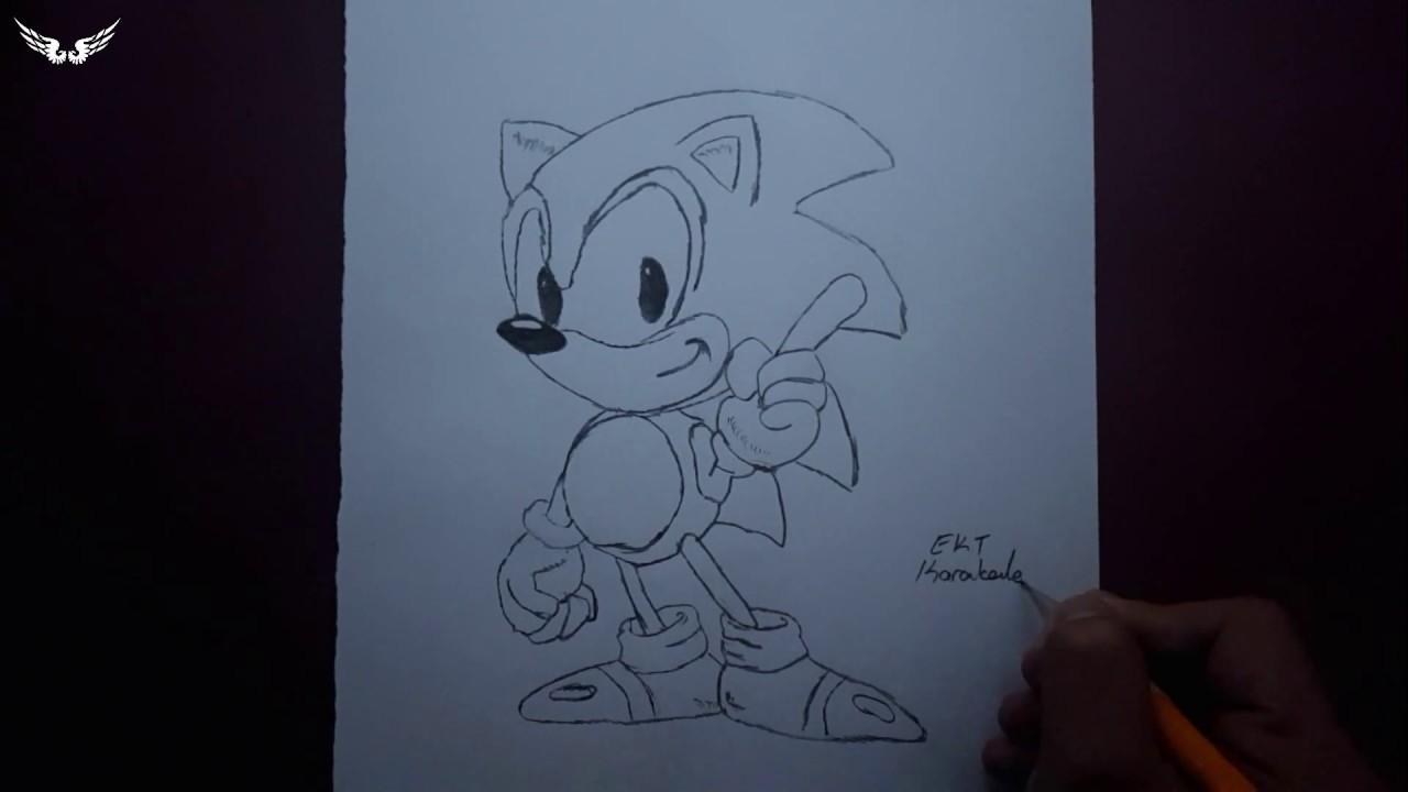 Ekt Karakalem Sonic Cizimi Youtube