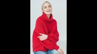 Свободный Пуловер для Женщин Спицами - 2019 / Loose Pullover for Women Knitting