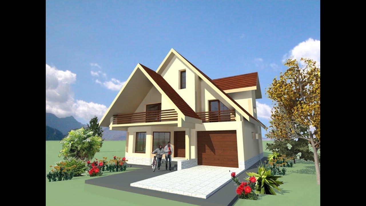 Proiecte vile moderne iasi casa b58 arhitect mytech for Youtube case cu mansarda