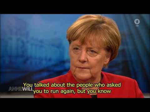 Angela Merkel interview after announcing run for Chancellor (eng sub) Part1