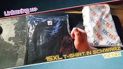 Unboxing - TicTex - 15XL T-Shirt in Schwarz  📦