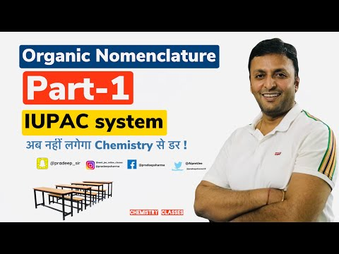 Nomenclature of Organic compounds - 1 , Class - 12, 11, 10, JEE , NEE,NTSE,KVPYT