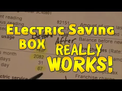 Electricity Saving Box works! Heres my Electric Bill proof!
